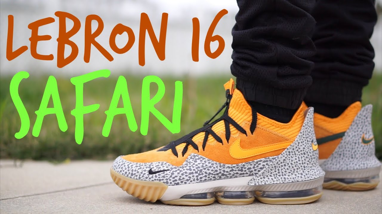 Lebron 16 low Atmos Safari on feet review