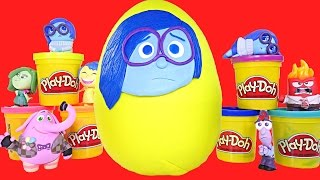 Huge SADNESS Play Doh Surprise Egg Pixar Inside Out Toys My Little Pony Zelf Disney Princess