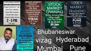 Stock market option bank nifty trade - Bhubaneswar 19, Vizag 21, Hyderabad 23, Pune 25, Mumbai 26Jan