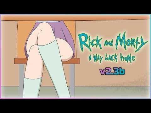 [v2.3b]Rick and Morty: A Way Back Home☚#20☛Джессика заманила под юбочку