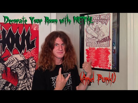 Decorate Your Room With Metal (and Punk!)