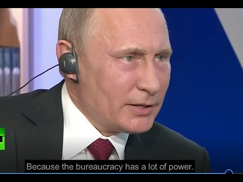 """Men in dark suits"" rule the US - Putin on Deep State"