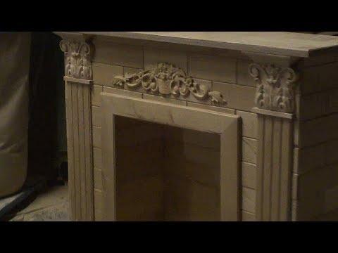 Декоративный камин своими руками Часть вторая. fireplace portal