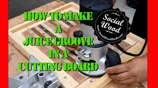 How to Make a Juice Groove in a Cutting Board