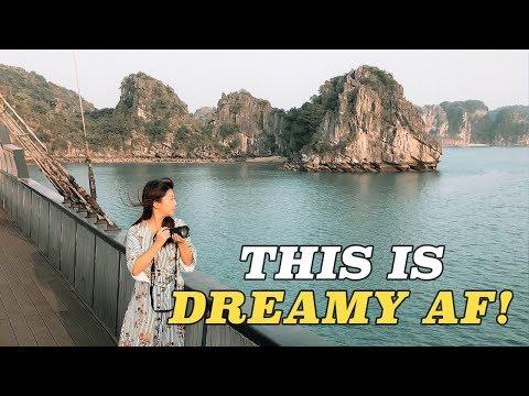 DREAMIEST Ha Long Bay LUXURY CRUISE! Vietnam Travel Vlog