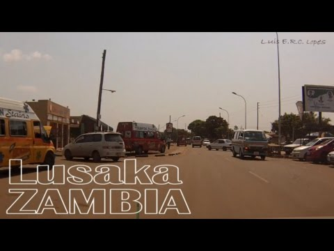 Dash Cam   In a Taxi    Lusaka, Zambia      October 2016