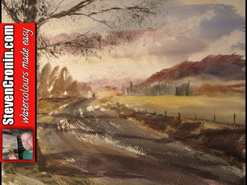 Road to Ullswater painting demo