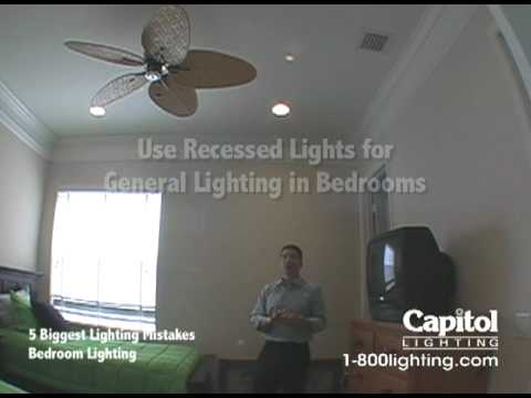 Recessed Lights In Bedroom Enchanting 5 Biggest Lighting Mistakes  Bedroom Lighting  Youtube Inspiration Design
