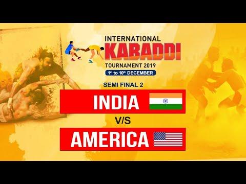 SEMI FINAL 2 : INDIA Vs USA | INTERNATIONAL KABADDI TOURNAMENT 2019 | LIVE MATCH |PTC PUNJABI GOLD |