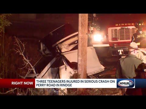3 teens injured in serious crash on Perry Road in Rindge