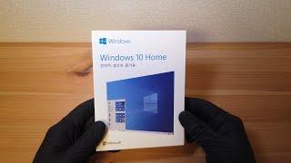 【4K】 마이크로소프트 정품 윈도우 10 박스 오픈 영…