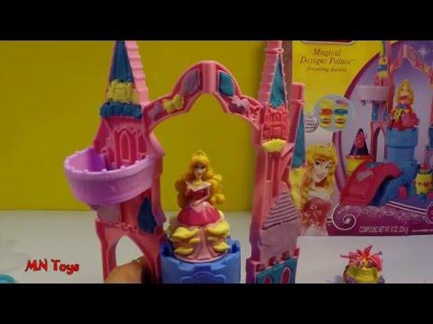 Đồ chơi đất nặn công chúa ngủ trong rừng Play Doh Magical Designs Palace Disney Princess Aurora