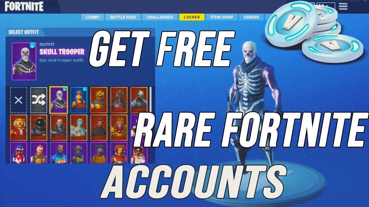 HOW TO GET FREE FORTNITE ACCOUNTS!!! USING MY DISCORD ...