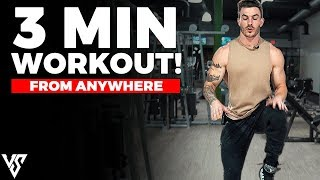 3 Minute Cardio Workout You Can Do Anywhere (TRY THIS!)