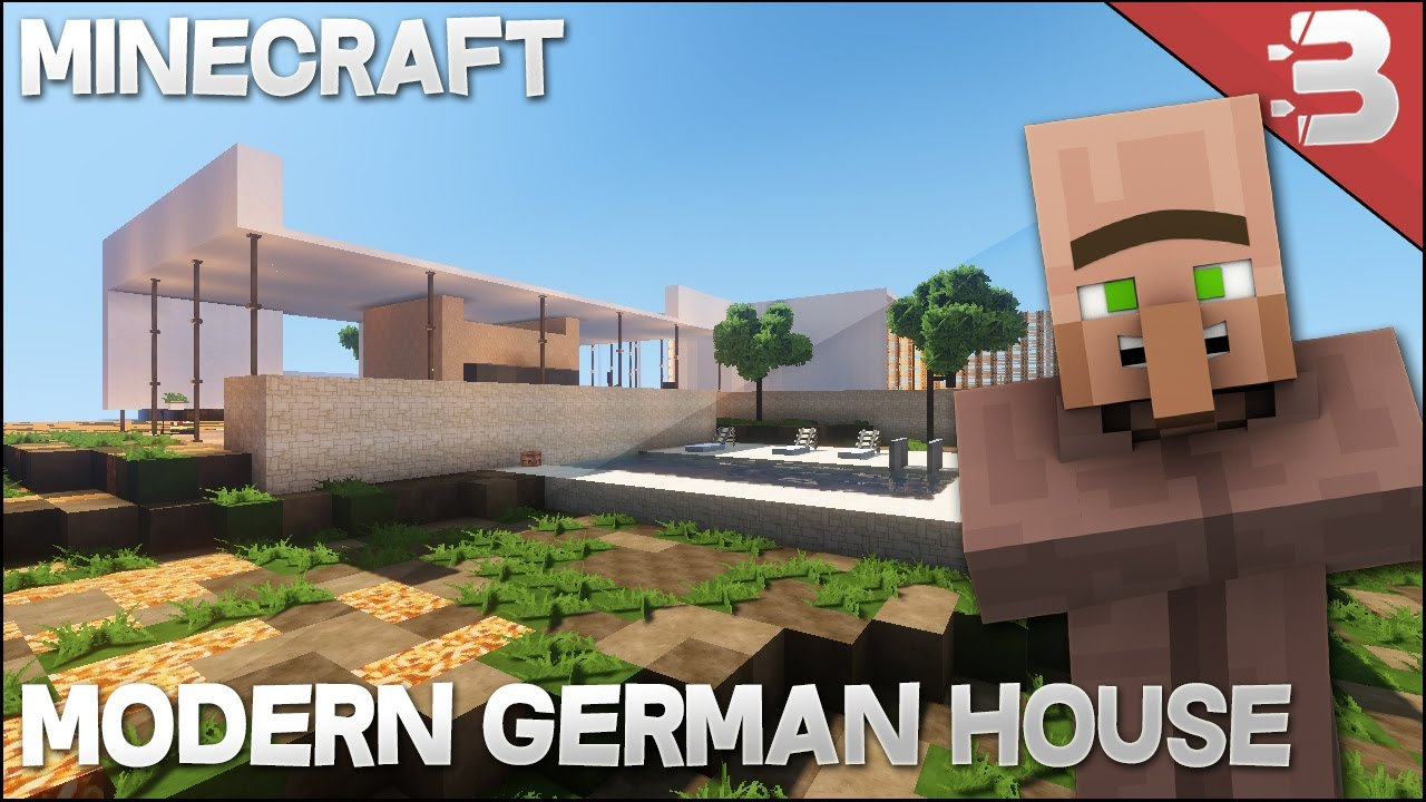 Minecraft Modern EPIC German House Build Tour With AndyisYoda
