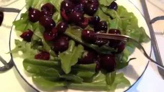 Raw Food Vegan Recipe- Sorrel And Cherry Salad Yum Yum