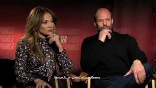 Jennifer Lopez & Jason Statham talks 'Parker' Movie, Idol & Gun Control (HD)
