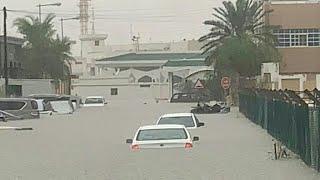🔴سيول قطر، امطار غزيرة تغرق شوارع واحياء الدوحة.