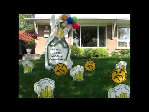 Birthday Lawn Signs   Lawn Greetings   Stork Birth Announcement Lawn Sign
