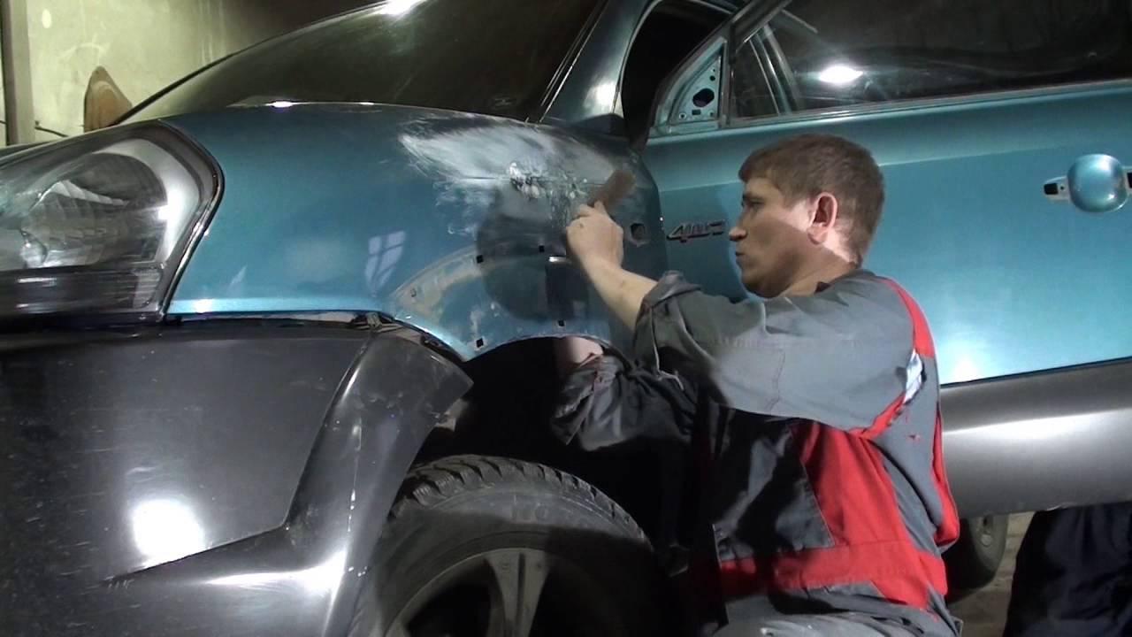 Рихтовка крыла Hyundai Tucson