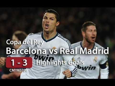 Barcelona vs Real Madrid [ 1 - 3 ] Copa del Rey Semifinal Vuelta 26/02/13 Videos De Viajes