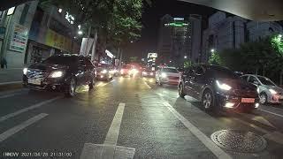 이노브K3 블랙박스 후방 야간 신호대기 영상