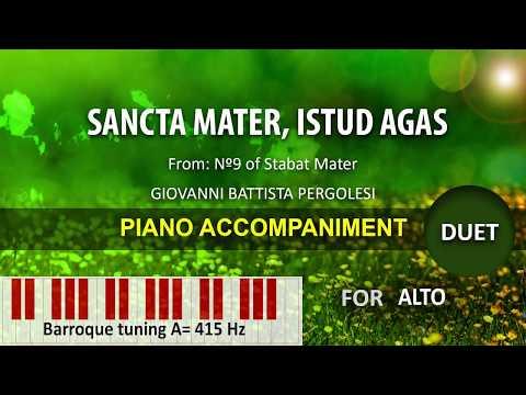 Sancta Mater, istud agas (duet): Karaoke piano for Alto A=415
