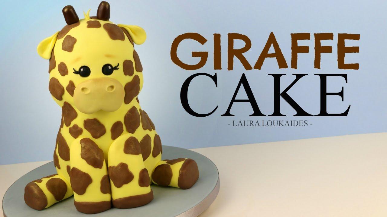 How to Make a 3D Giraffe Cake Laura Loukaides YouTube