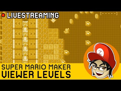 [CAZ LIVE] Blind Kaizo Race (EASY) + Your Viewer Levels! | Super Mario Maker