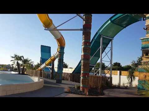 Camping acapulco piscine avec toboggan et piscine à vagues (Capital M6)