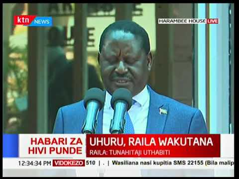 Raila Odinga's asks Kenyans to resolve the ongoing conflicts