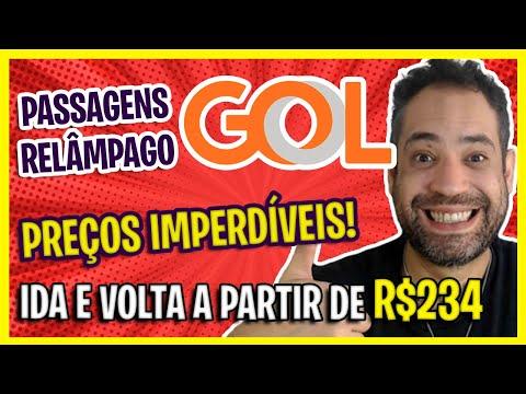 SÓ R$234! PASSAGENS AÉREAS GOL IMPERDÍVEIS PARA APROVEITAR HOJE! PASSAGENS PROMO GOL RELÂMPAGO!