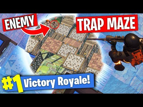 Winning with a Trap Maze in Fortnite ft. Muselk & Crayator