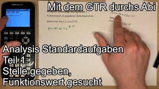 Analysis Grundkompetenz 1: Funkti๐nswerte mit dem GTR bestimmen (TI-84 Plus CE-T)