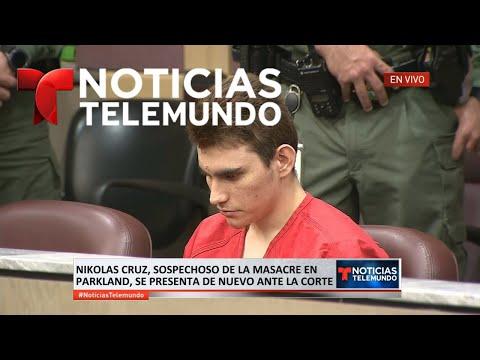EN VIVO: Nikolas Cruz, sospechoso de la masacre en Parkland, se presenta de nuevo ante la corte