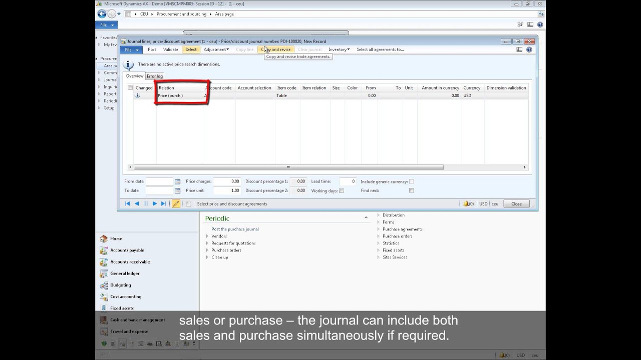 Microsoft Dynamics AX: How to Create and Manage Purchase Prices and  Discounts Using Trade Agreements