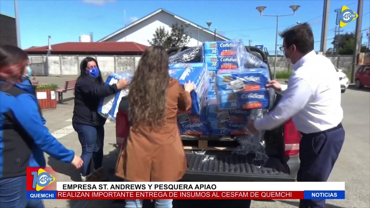St. Andrews y Pesquera Apiao donan insumos a Cesfam de Quemchi