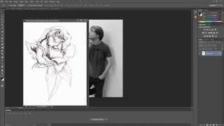 Photoshop Cs6 - Sleeve tattoo time lapse - HD