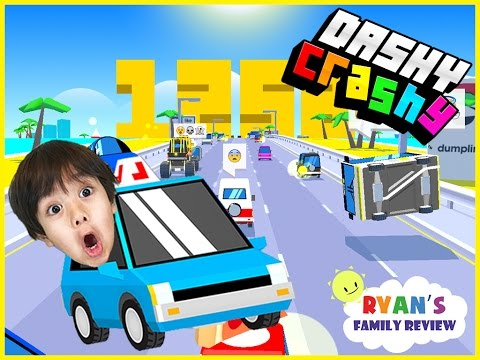 Ryan and Daddy Game Night! Let's Play Dashy Crashy with Ryan's Family Review!