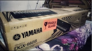 Yamaha Portable Grand Digital Piano DGX-660B Unboxing