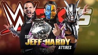 WWE 2K16 - Top 5 Jeff Hardy Attires (WWE/TNA)