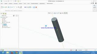 How to make threads on bolt using helical sweep command.