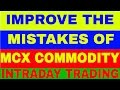 What are the mistakes of MCX commodity traders, beginners,greed.