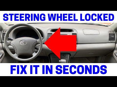 Steering Wheel & Ignition Key Won't Turn On Car - EASY FIX!