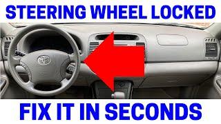 Steering Wheel & Ignition Key Wont Turn On Car - EASY FIX!