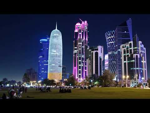 Doha Qatar 4K, Night Sights, Economy and World Cup 2022