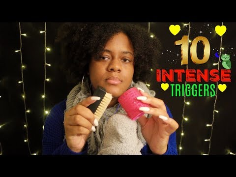 ASMR | ♡ 10 INTENSE Triggers For Relaxation | ( 1 Hour ) ~ ♡