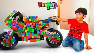 Jason Plays with Toy Blocks