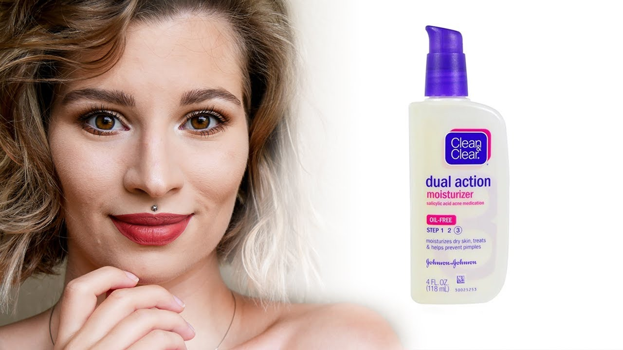 Clean Clear Oil Free Dual Action Moisturizer Review Does It Work For Your Breakouts Youtube