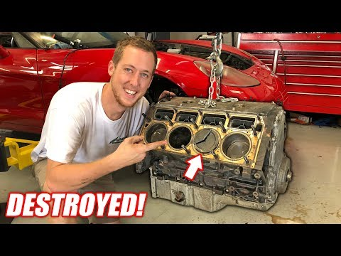Taking Apart the Auction Corvette's BLOWN Engine! The Carnage is AMAZING!